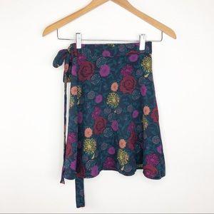 🌿 American Apparel Mini Floral Wrap Skirt